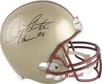 Doug Flutie Autographed Helmet  Details Boston College Eagles, with