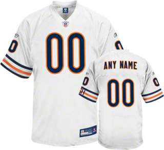 Chicago Bears White Authentic Jersey Customizable NFL Jersey