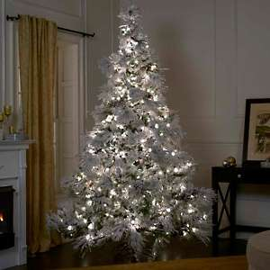 Colin Cowie Flocked 7 1/2 White Artificial Christmas Tree