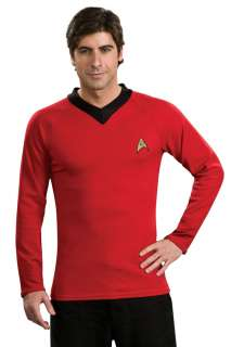 Deluxe Adult Star Trek Red Shirt Costume   Star Trek Costumes