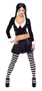 Sexy Adult Wednesday Addams Costume   Sexy Costumes