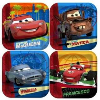 Disney Cars 2   Square Dessert Plates (8 count)   Costumes, 73832