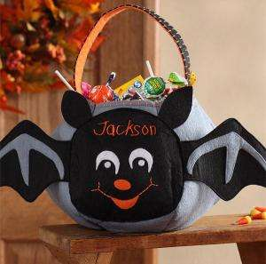 Batty Bat Embroidered Trick or Treat Bag   Personalized Items