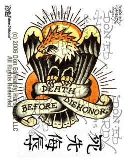 Death Before Dishonor Tattoo, 4 X 3 (Makeup & Tattoos)