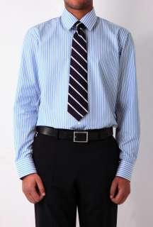 Blue Wide Stripe Classic Fit Shirt by Hugo Boss Black   Blue   Buy