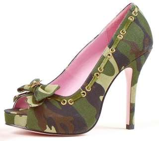 Army Adult Shoes   Includes: One pair of sexy camouflage high heel