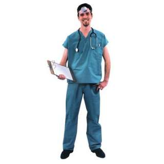 Adult Medical Scrub Suit Costume   Doctor Costumes   15AC50