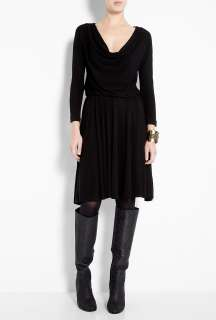 Halston Heritage  Black Cowl Front Dress by Halston Heritage