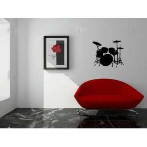 Drum Set Wall Decal Sticker Art Small By LKS Trading Post