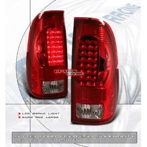 Ford F350 Led Tail Lights Euro Red Clear LED Taillights 1997 1998 1999