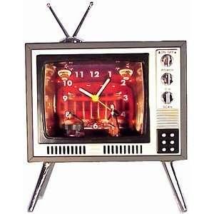 Television Vintage TV Musical Alarm Clock