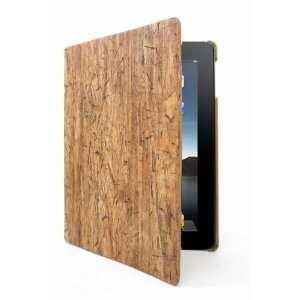 Apple iPad2 Notebook Cork wood grain pattern foldable Smart Case / Not