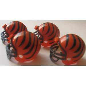 NFL Football Mini Helmets Cincinnati Bangles Pack of 4 Vending Toys