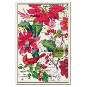 Design Works Cotton Kitchen Towel, Christmas Blooms