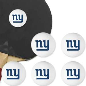York Giants 6 Pack Team Logo II Table Tennis Balls