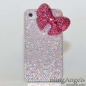 3D Swarovski Luxury AB Crystals Bling Case Cover for iphone 4 / 4s 100