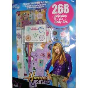 Hannah Montana Sticker & Body Art, 268 Pc. Set Everything Else