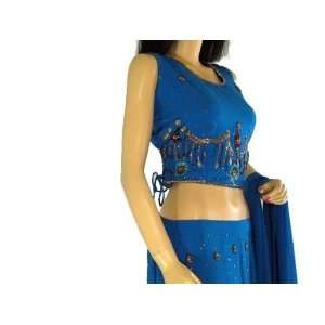BLUE WEDDING PARTY INDIAN DRESS PARTY LENGHA CHOLI M Toys
