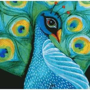 Cross Stitch Chart Peacock Arts, Crafts & Sewing
