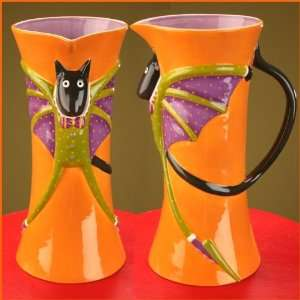Brewster Krinkles, BAT CAT PITCHER  Kitchen & Dining