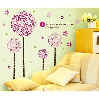 Large Wall Tree Nursery Decal Dogwood Magnolia Cherry Blossom Flowers