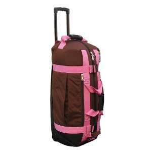 Club Glove 2011 Rolling Duffle Travel Bag (Mocha/Pink