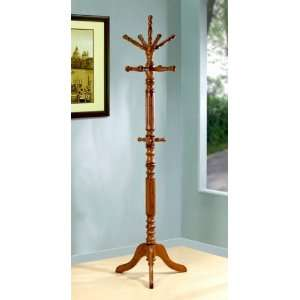 Traditional Style Solid Wood Rotating Entryway Hall Tree Coat