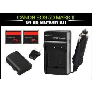 E6 Battery + x2 32GB (Compact Flash) CF Memory Cards Camera & Photo