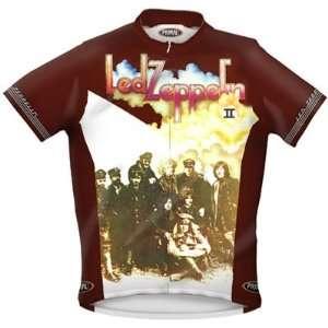 Primal Wear Mens Led Zeppelin II Rock Short Sleeve Cycling Jersey