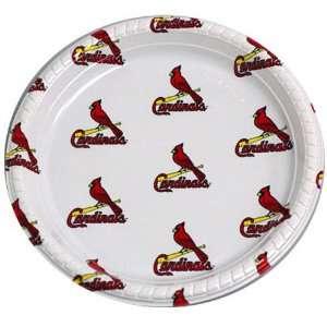 Louis Cardinals Disposable Plastic Plates (12 Pack)