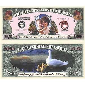 Set of 100 Mothers Day One Million Dollar Bill: Toys & Games
