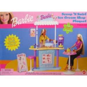 Swirl Ice Cream Shop Barbie Doll Playset  Toys & Games