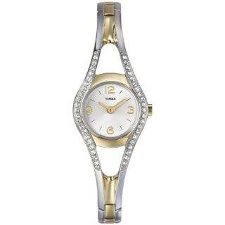 T2M842 Crystal Accented Gold Tone Bracelet Watch Timex Watches
