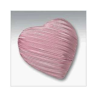 Valentines Day Pink Solid Milk Chocolate Heart Gift Box (5.45 Oz