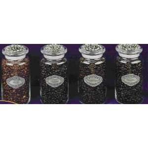 Set of Four Gourmet Coffee Jars Kitchen & Dining