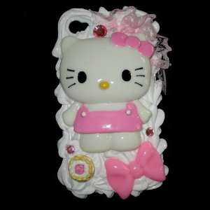 Pink Hello Kitty 3d Cake Ice Cream Hard Back Cover Case