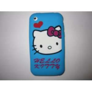I Phone 3G 3GS light weight Heart Hello Kitty Silicone