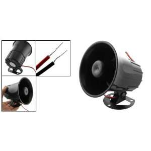 Black Loud Universal Car Security Alarm Siren Horn 12V Electronics