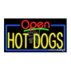 Hot Dogs Neon Sign 20 inch tall x 37 inch wide x 3.5 inch deep outdoor