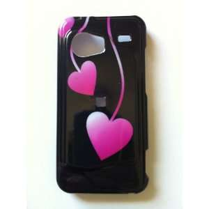 HTC Droid Incredible ADR6300 Love Drop Design  Pink Hearts