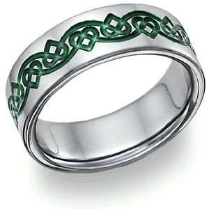 Irish Celtic Heart Love Knot Wedding Band Jewelry