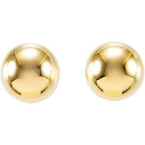 Genuine IceCarats Designer Jewelry Gift 14K Yellow Gold Ball Earrings