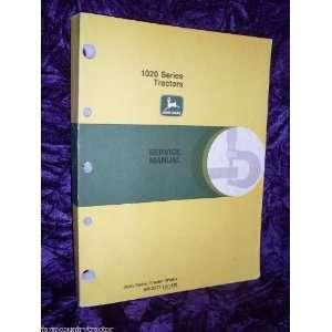 John Deere 1020 Series Tractors OEM Service Manual SM2071 John Deere