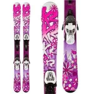 K2 Luv Bug Skis + Marker Fastrak2 4.5 Bindings Youth Girls 2013   112