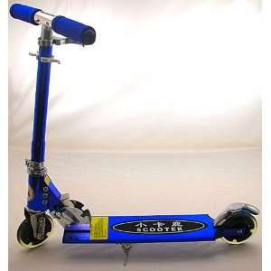 New Blue Kick Scooter w/LED Lighted Wheels: Sports