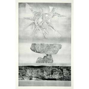 Rock Animal Landscape Gabor Peterdi   Orig. Photolithograph Home