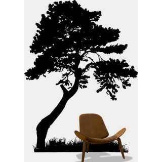 Vinyl Wall Art Decal Sticker Tree Leaves Grass Decoration