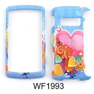 LG ENV 3 / ENV3 vx9200 Multicolor Hearts on Light Blue Hard Case/Cover
