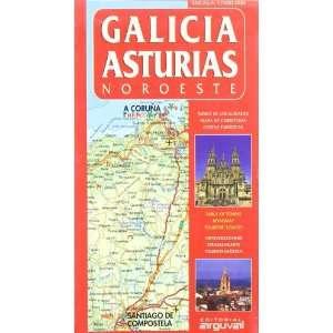 Mapa de Galicia y Asturias (9788495948243) Unknown Books