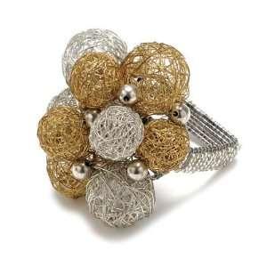 Kim Seybert Mesh Ball Napkin Ring In Gold/Silver   Set of